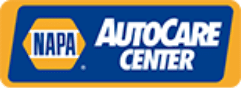 NAPA logo with the words AutoCare Center included to the right of the NAPA logo